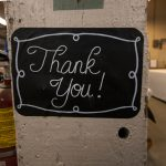 thank you sign at ILEA Cleveland charity event