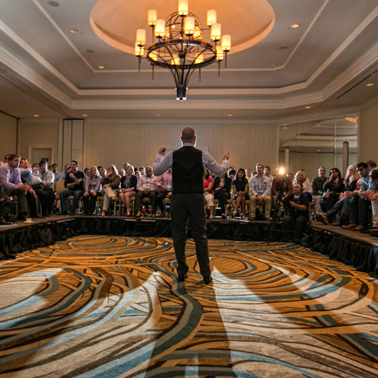 cleveland business photographer at corporate event in san diego cropped
